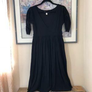 Anthropologie Black Midi Dress